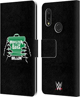 Official WWE Braun Strowman Monster in The Bank 2018/19 Superstars 4 Leather Book Wallet Case Cover Compatible for Xiaomi Redmi 7 (2019)