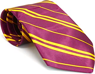 Maroon and Gold Tie - Wizard Costume Accessories Dress Up Ties - 1 Piece