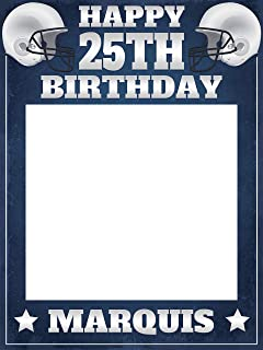 American Football Birthday Photobooth Frame, Birthday Gift Ideas, Party Favors, Football Birthday Party Decorations, Selfie Photo Frame Party, Handmade Party Supplies Photo Size 24x36,48x36