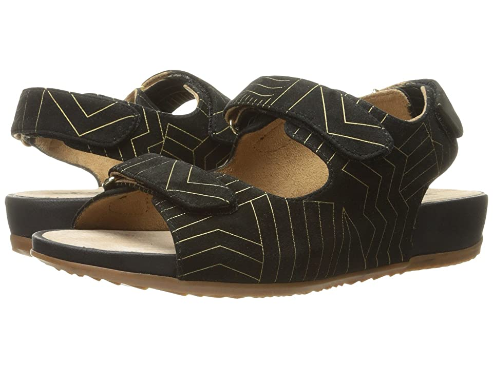 SoftWalk Dana Point (Black/Gold) Women