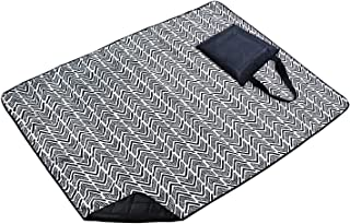 MARQUESS Picnic Blanket-Water & Sand Resistant Large Outdoor Handle Tote Mat for Spring Summer, Folding & Lightweight for Beach Camping Grass Playtime (Zigzag)