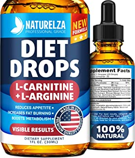 Weight Loss Drops - Made in USA - Best Diet Drops for Fat Loss - Effective Appetite Suppressant & Metabolism Booster - 100...