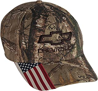 realtree camo hat with american flag