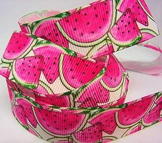 Grosgrain Ribbon - Trendy Summer Watermelon Print - 7/8