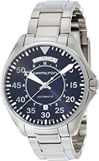 Hamilton Men's 'Khaki Aviation' Swiss Automatic Stainless Steel Dress Watch, Color:Silver-Toned (Model: H64615135)