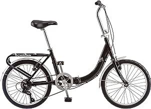 Schwinn Loop Adult Folding Bicycle, 20-Inch Wheels, 7-Speed (Renewed)