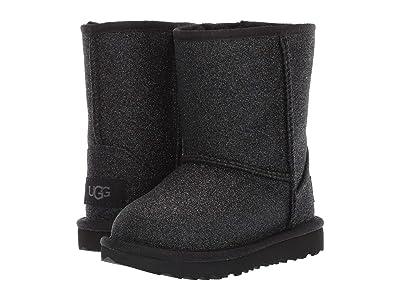 UGG Kids Classic Short II Glitter (Toddler/Little Kid) (Black 1) Girls Shoes