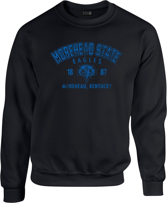 NCAA Morehead State Eagles Unisex NCAA 50 Blended 8 oz. Crewneck Sweatshirt, black, 3X