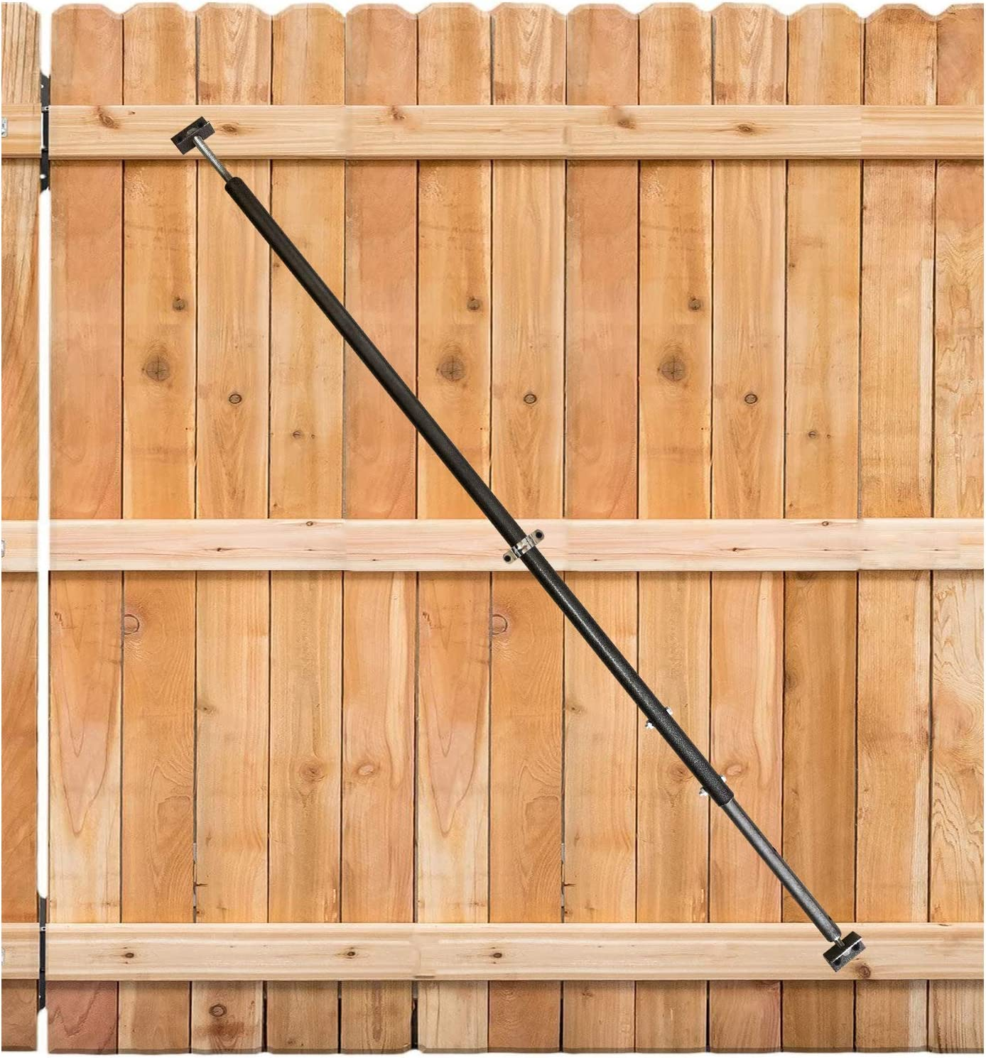 HANDYGO Telescopic Adjustable Steel Gate Brace – Extends to 6 Feet - Anti Sag Gate Kit for Outdoor Yard Wooden Fence Gates