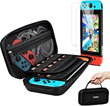 Nintendo Switch Case with 2 Pack Screen Protector, Built-in Stand iVoler Protective Portable Hard Shell Pouch Carry Travel...