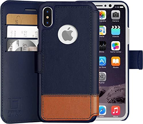 LUPA iPhone Xs Max Wallet Case -Slim & Lightweight iPhone Xs Max Flip Case with Credit Card Holder - iPhone Xs Max Wa...