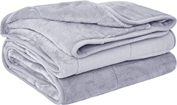 """puredown Cozy and Luxury Weighted Blanket for Adults, Youths Heavy Blanket with Glass Beads Flannel Shell Fabric Deliver Durability and Comfort 41""""x 60"""" 10lbs PD-WB19046-B"""