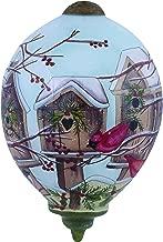 "Ne'Qwa Art, Home for The Holidays"" Artist Susan Winget, Petite Princess-Shaped Glass Ornament, 7151166"