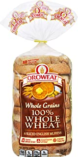 Oroweat, 100% Whole Wheat English Muffins, 13.75 Ounce, 6 Count