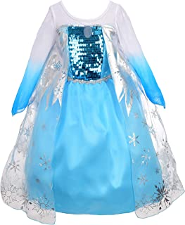 Dressy Daisy Girls' Princess Elsa Costumes Snow Queen Fancy Party Birthday Dress