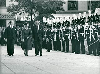 Vintage photo of King Carl XVI Gustaf, Queen Silvia and Prince Bertil arrive at the opening of the Riksdag