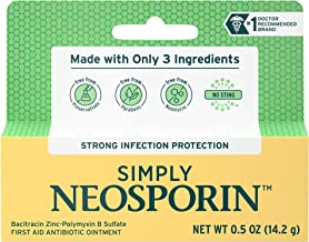 Simply Neosporin Formula 3-Ingredient First Aid Antibiotic Ointment and Wound Care Treatment with Bacitracin Zinc and Poly...