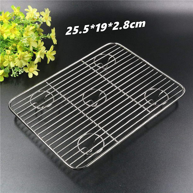 溶かす困難アラブサラボ小サイズ25.5 * 19センチメートル棚涼しくドライケーキ耐熱皿を冷却長方形のステンレススチールパンパンビスケットビスケットケーキ
