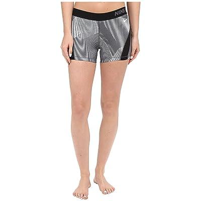 Nike Pro Hypercool Frequency Shorts (Black/Dark Grey/Dark Grey/White) Women