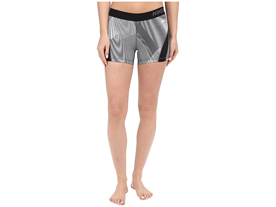 Nike Pro Hypercool Frequency Shorts (Black/Dark Grey/Dark Grey/White) Women