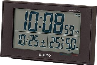 セイコークロック 置き時計 02:黒 本体サイズ:8.5×14.8×5.3cm 【ギフト包装】電波 デジタル カレンダー 快適度 温度 湿度 BC402K