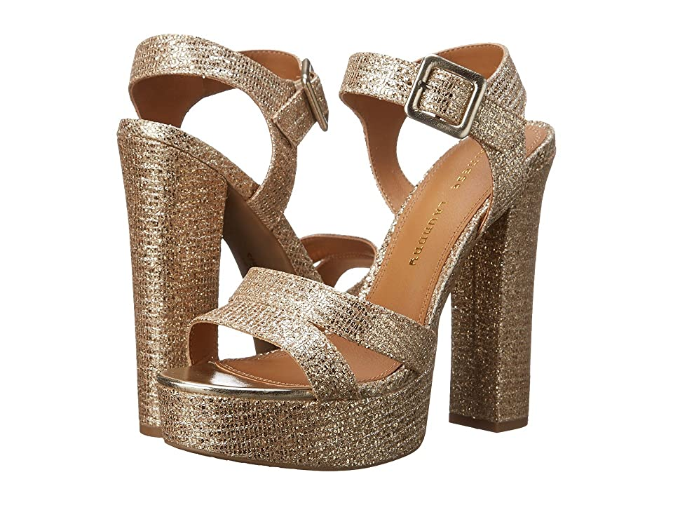 Chinese Laundry Allspice Platform Sandal (Champagne Glitter) High Heels