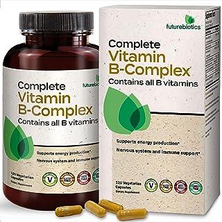 Futurebiotics Complete Vitamin B Complex (Vitamin B1, B2, B3, B6, B9 - Folic Acid, B12) Contains All B Vitamins - Non GMO,...
