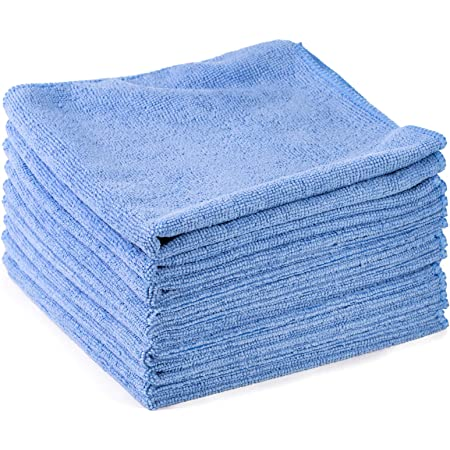 10x Microfasertuch Im Sparpack Hellblau Putztuch Reinigungstuch Poliertuch Autopflege Waschbar 40x40 Cm By Kör4u Drogerie Körperpflege