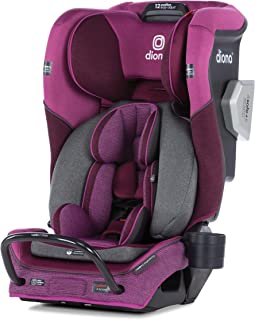 Diono 2020 Radian 3QXT, 4 in 1 Convertible, Safe+ Engineering, 4 Stage Infant Protection, 10 Years 1 Car Seat, Fits 3 Across, Purple Plum