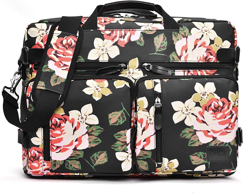 CoolBELL 25%OFF Convertible Backpack Messenger Floral Bag 爆安 Shoulder