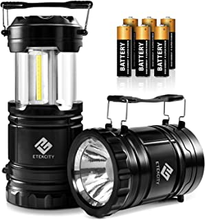 Etekcity Lantern Camping Lantern Battery Powered Lights for Power Outages, Home Emergency, Camping, Hiking, Hurricane, A M...