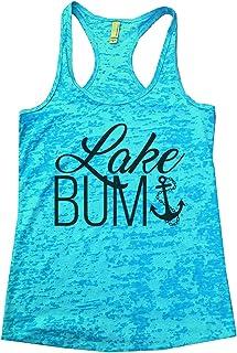 "Women's Cute Anchor Burnout ""Lake Bum Vacation Tank Top - Outdoors Gift"