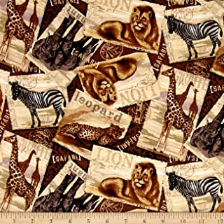 Springs Creative Products Safari Travels Multi Quilt Fabric By The Yard, Multicolor