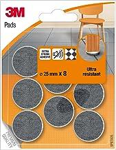 3M Viltglijders met afgeronde randen, 25 mm, meerkleurig, UU003708458