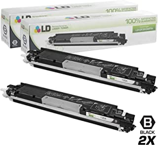 LD Remanufactured Toner Cartridge Replacement for HP 130A CF350A (Black, 2-Pack)