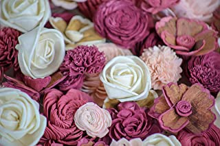 Sola Wood Flowers - Sangria Assortment (Pack of 50)