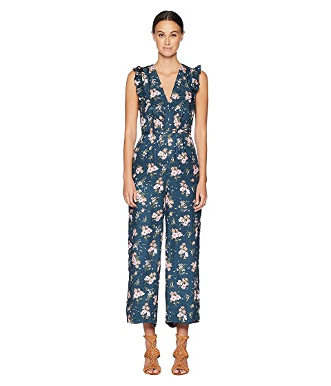 Rebecca Taylor Sleeveless Emilia V-Neck Jumpsuit