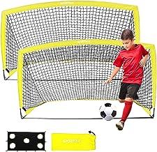 """Sportout Draagbare voetbaldoel, Training Voetbalnet voor achtertuin, tuin, binnen, buiten, training, praktijkdoelen (6'3 """"..."""