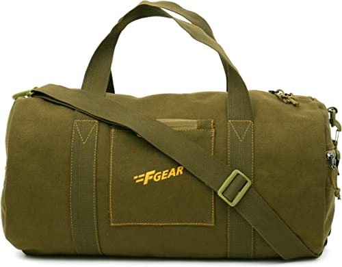 Army 30 liters Olive Canvas Gym Bag