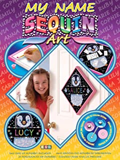 Sequin Art My Name, Penguin, Personalized Name Sparkling Arts and Crafts Picture Kit, Creative Crafts