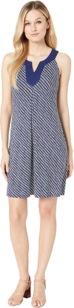 1138719048 Tommy Bahama. Linen Dye Flounce Dress.  119.00. Island Navy