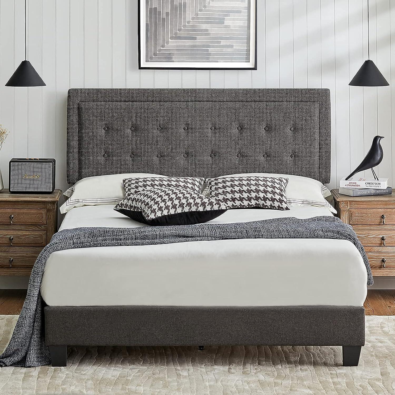 Amerlife Full Bed Factory outlet Frame Upholstered Challenge the lowest price of Japan ☆ Adjustable Platform with