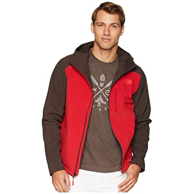 The North Face Apex Bionic 2 Hoodie (Rage Red/Bittersweet Brown) Men