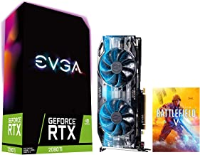$1269 » EVGA GeForce RTX 2080 Ti Gaming Graphics Card, 11GB GDDR6, VR Ready (VirtualLink), 4K, Ray Tracing, 3X DP 1.4, 1x HDMI 2.0...