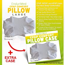 CPAP Pillow w/Extra Case -Memory Foam Contour Design Reduces Face & Nasal Mask Pressure - 2 Head & Neck Rests for Max Comfort - CPAP, BiPAP & APAP Users - for Stomach, Back, and Side Sleepers