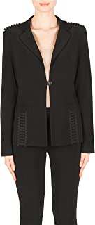 Joseph Ribkoff One Button Silky Knit Black Blazer Style 183228