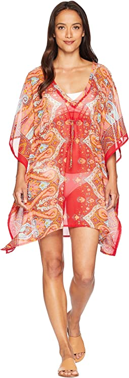 Echo Design Sea Fan Paisley Silky Caftan