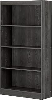 South Shore 4-Shelf Storage Bookcase, Gray Oak
