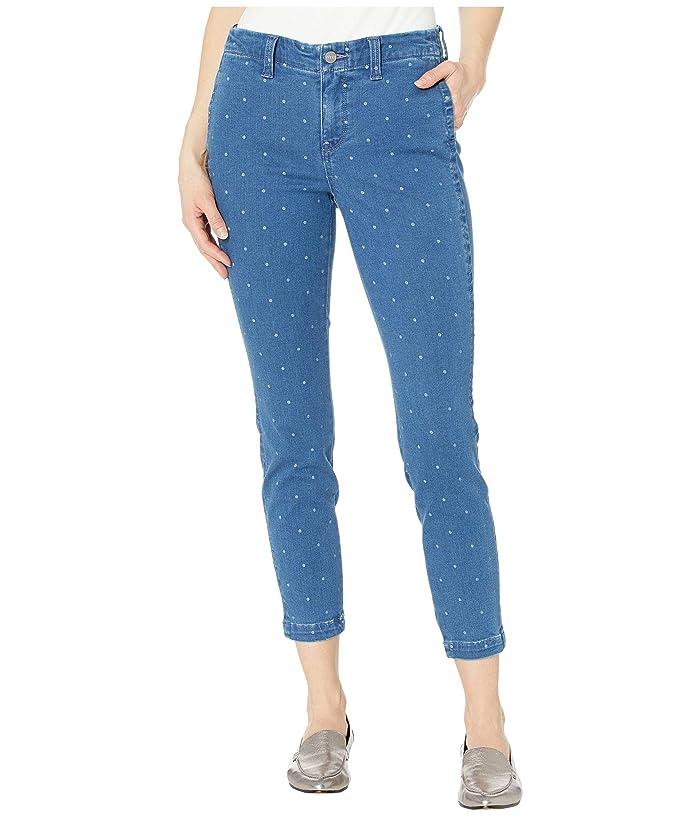 NYDJ  Ami Skinny Ankle Jeans with Side Seam Welt Pockets in Beachside Polka Dot (Beachside Polka Dot) Womens Jeans