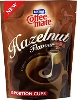 NESTLÉ COFFEE-MATE Hazelnut Flavour Liquid Coffee Whitener 10 Cups x 15mL, 150g